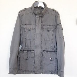 G.H. Bass Army Gray utility jacket size small